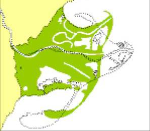 Representació del Delta de l'Ebre al S.XVIII